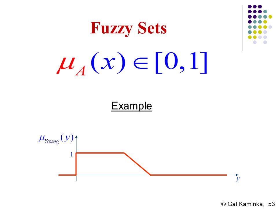 © Gal Kaminka, 53 Fuzzy Sets 1 y Example