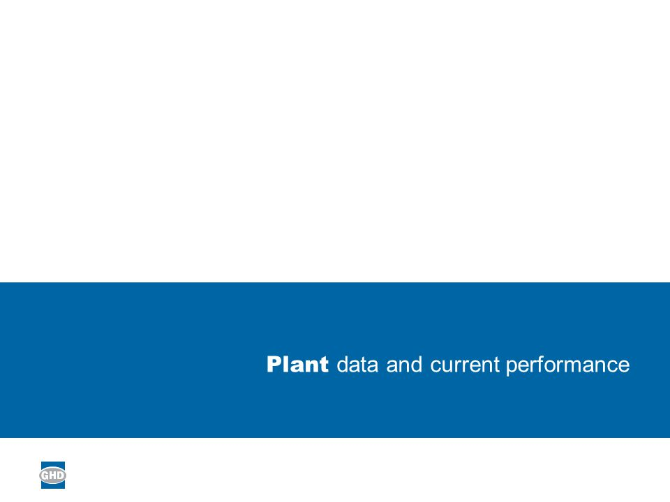 Plant data and current performance