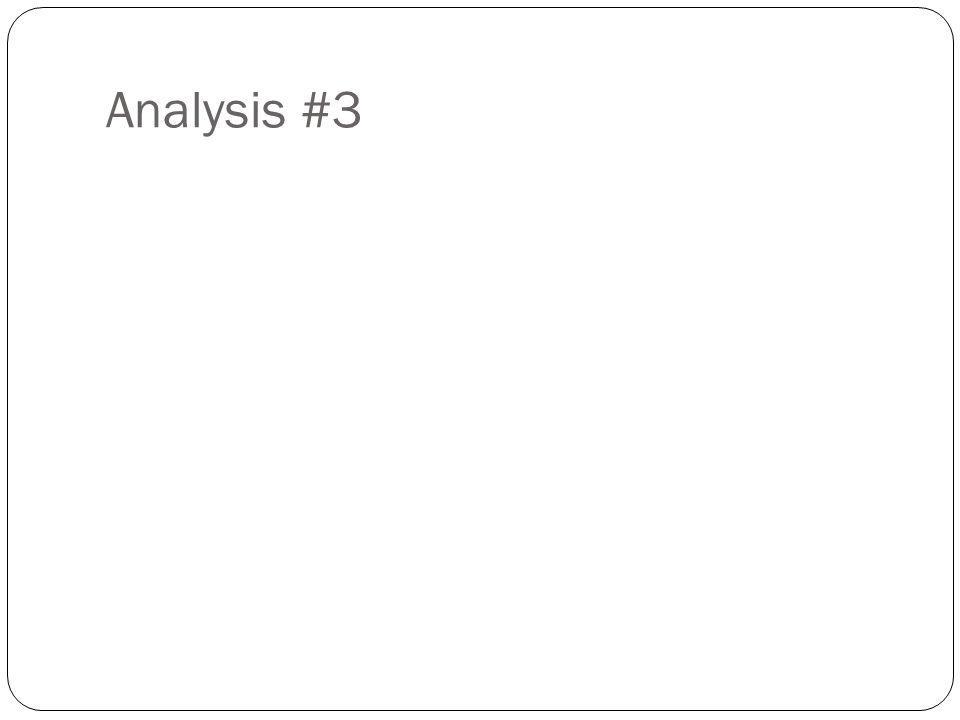 Analysis #3