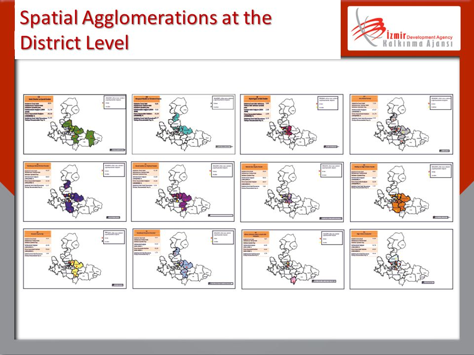 Spatial Agglomerations at the District Level