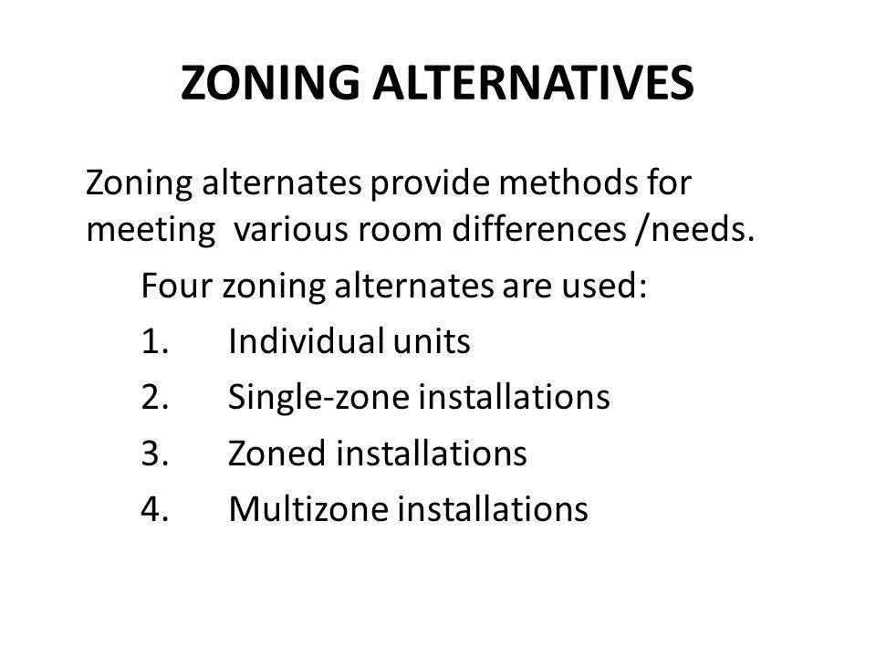 INDIVIDUAL UNITS 1.Packaged units like window units or through- wall units that can heat or cool a room/area.