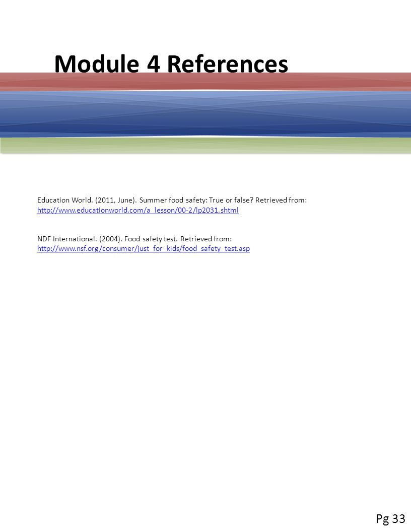 Module 4 References Education World. (2011, June).