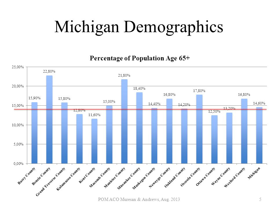Michigan Demographics POM ACO Muresan & Andrews, Aug. 20135
