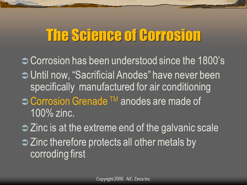 Copyright 2006 - A/C Zincs Inc.