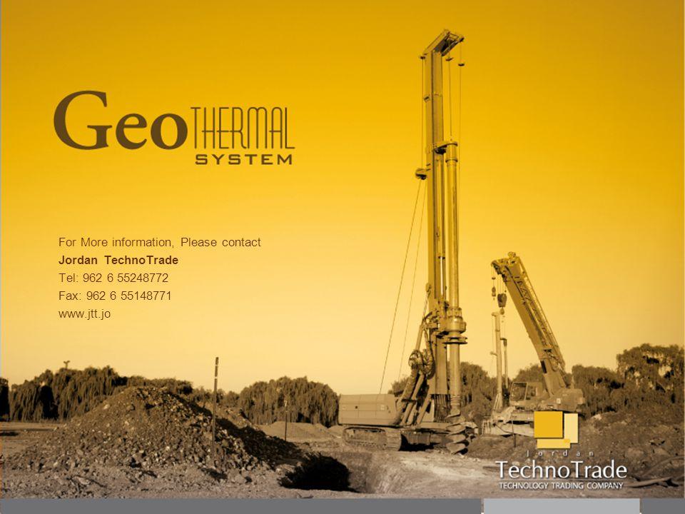 For More information, Please contact Jordan TechnoTrade Tel: 962 6 55248772 Fax: 962 6 55148771 www.jtt.jo