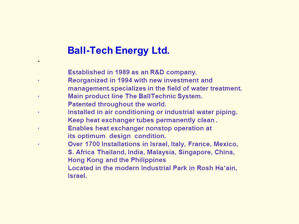 Ball-Tech Energy Ltd.· Established in 1989 as an R&D company.
