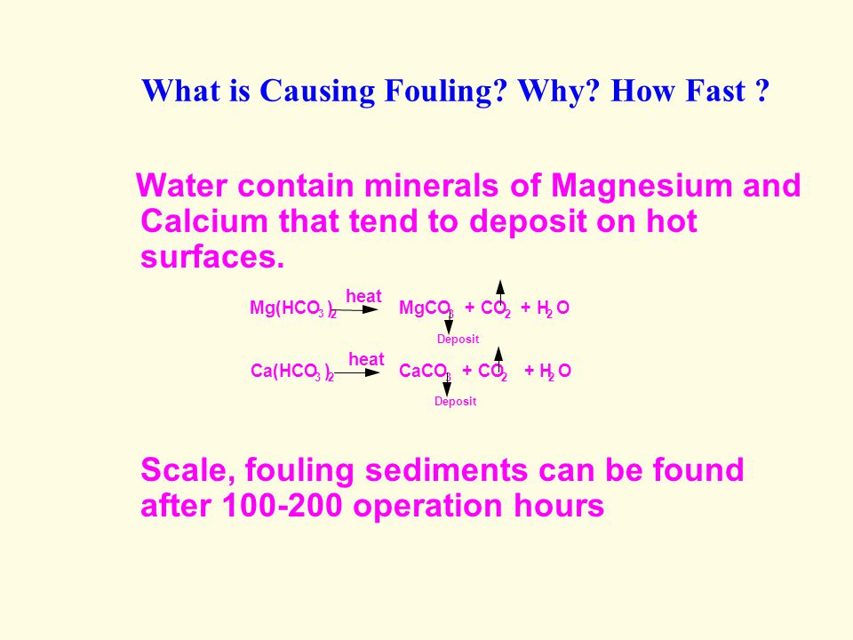 What is Causing Fouling.Why. How Fast .