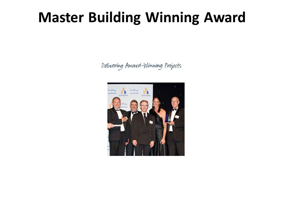 Master Building Winning Award