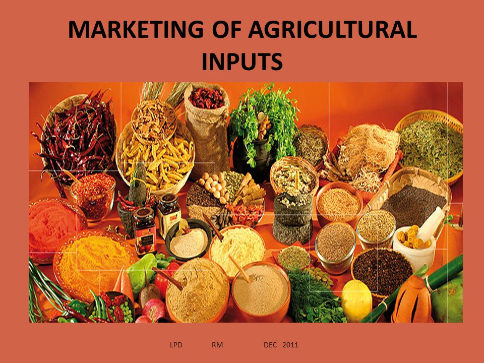 MARKETING ENVIRONMENT FOR AGROCHEMICALS IN INDIA LPD RM DEC 2011