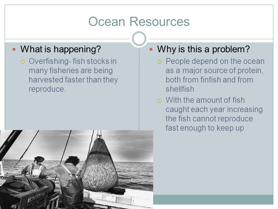 Ocean Resources What is being done.
