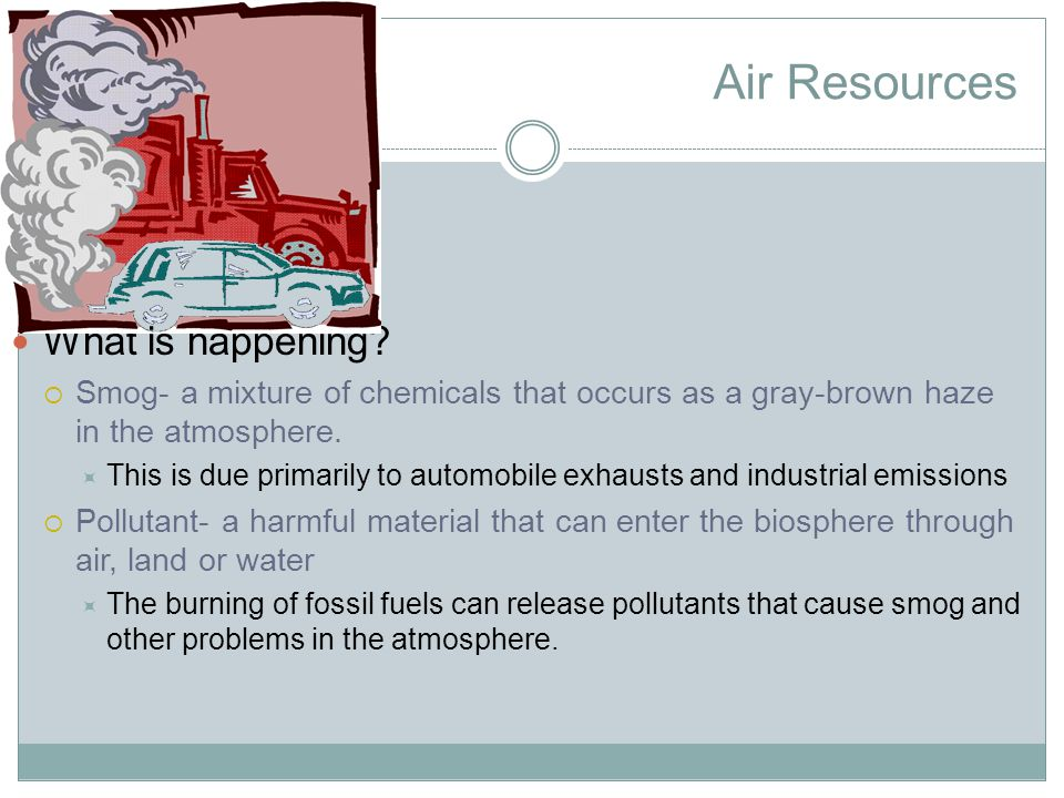 Air Resources Why is it a problem.