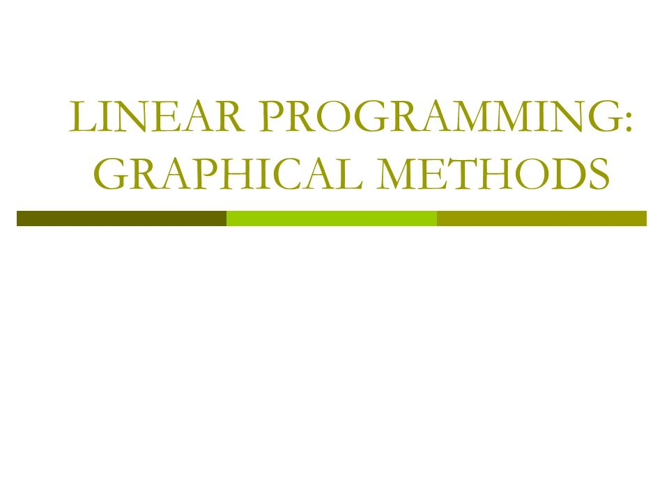 MINIMIZATION PROBLEMS IN LINEAR PROGRAMMING o Many linear programming problems involve minimizing an objective such as cost, instead of maximizing a profit function.