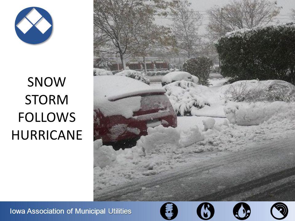 SNOW STORM FOLLOWS HURRICANE