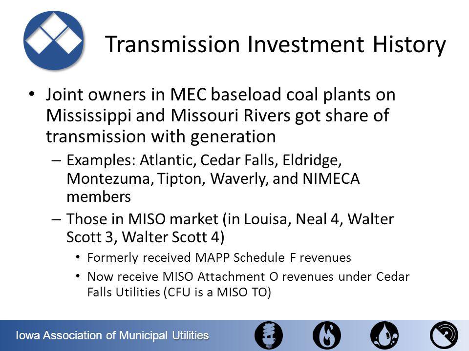 Utilities Iowa Association of Municipal Utilities Midwest Municipal Transmission Group (MMTG) is a 501(c)6 non- profit organization.