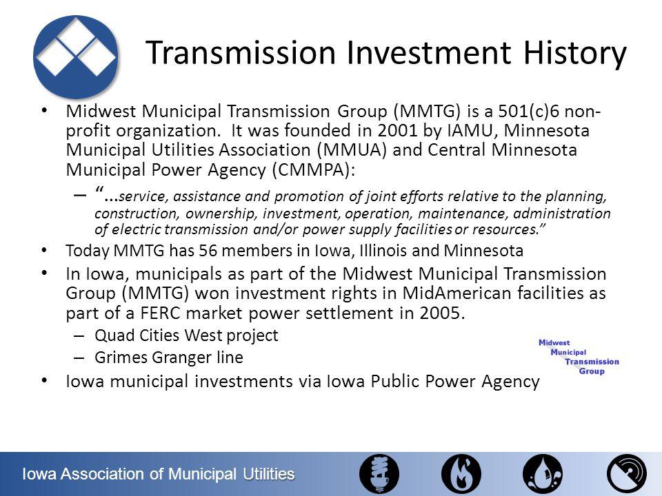 Utilities Iowa Association of Municipal Utilities Regional Meeting #1 Waterloo, Cedar Falls, Hudson Delegation – Senator Jeff Danielson (D) – Senator Bill Dotzler (D), Asst.