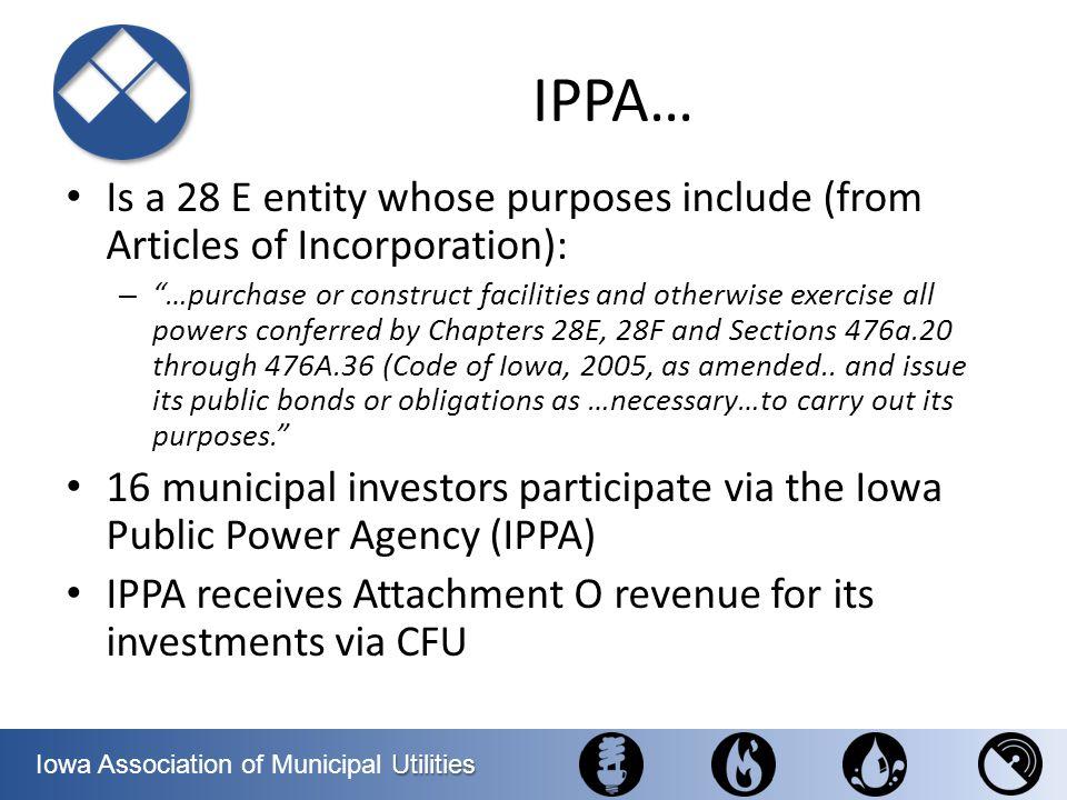 Utilities Iowa Association of Municipal Utilities Regional Meeting #2 Mount Pleasant – New Senator Rich Taylor (D)– former prison guard/AFSCME – Rep.