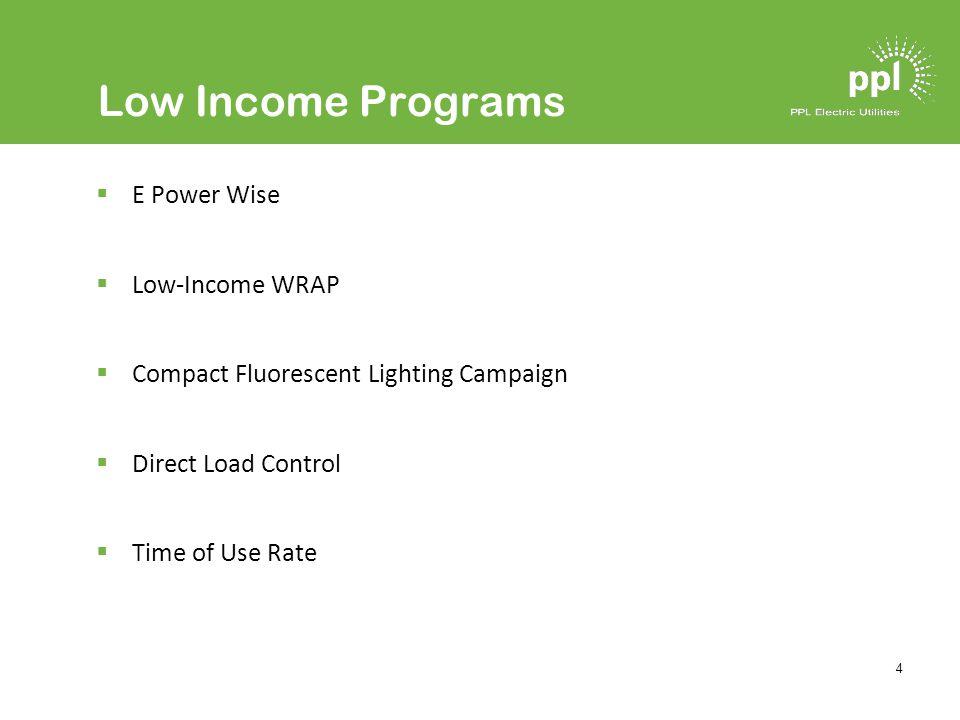 5 Large Commercial & Industrial Programs Load Curtailment C & I Custom Incentive Efficient Equipment Incentive