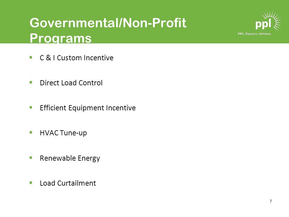 18 Energy Efficiency Incentive Program Prescriptive rebates for: –High Efficiency Heat Pumps –Energy Star Appliances Launched in December 2009 with retroactive rebates.
