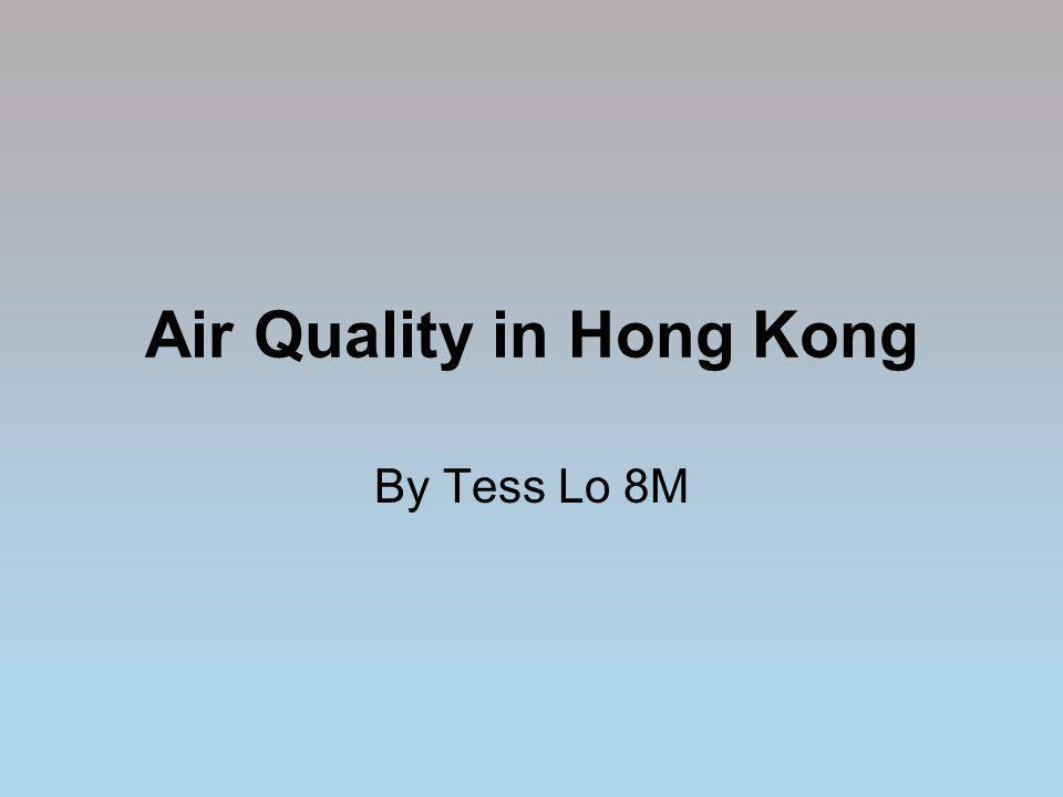 Air Quality in Hong Kong By Tess Lo 8M
