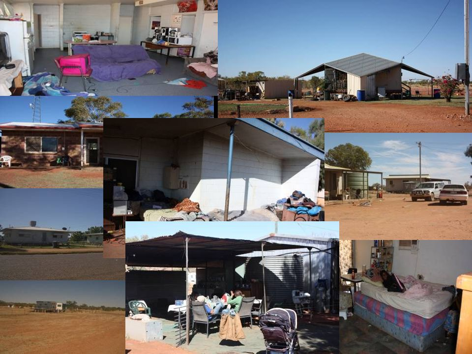 Dajarra & Urandangi communities experience complex forms of housing & living options.