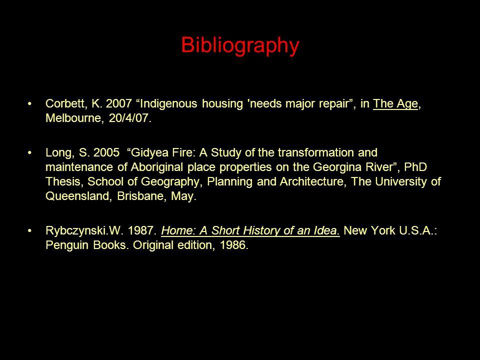 Bibliography Corbett, K.
