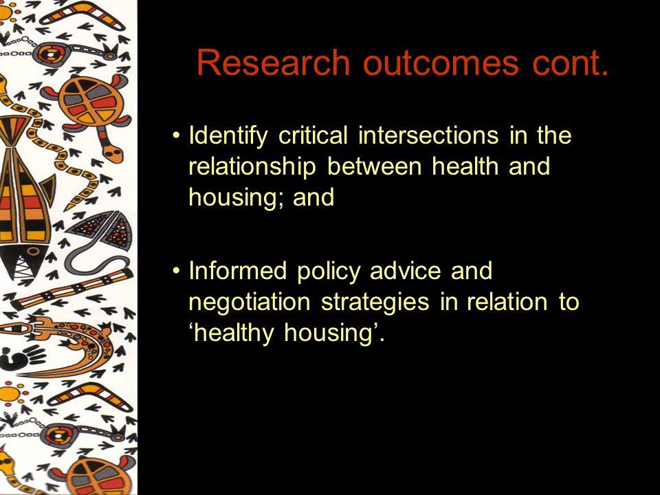 Research outcomes cont.