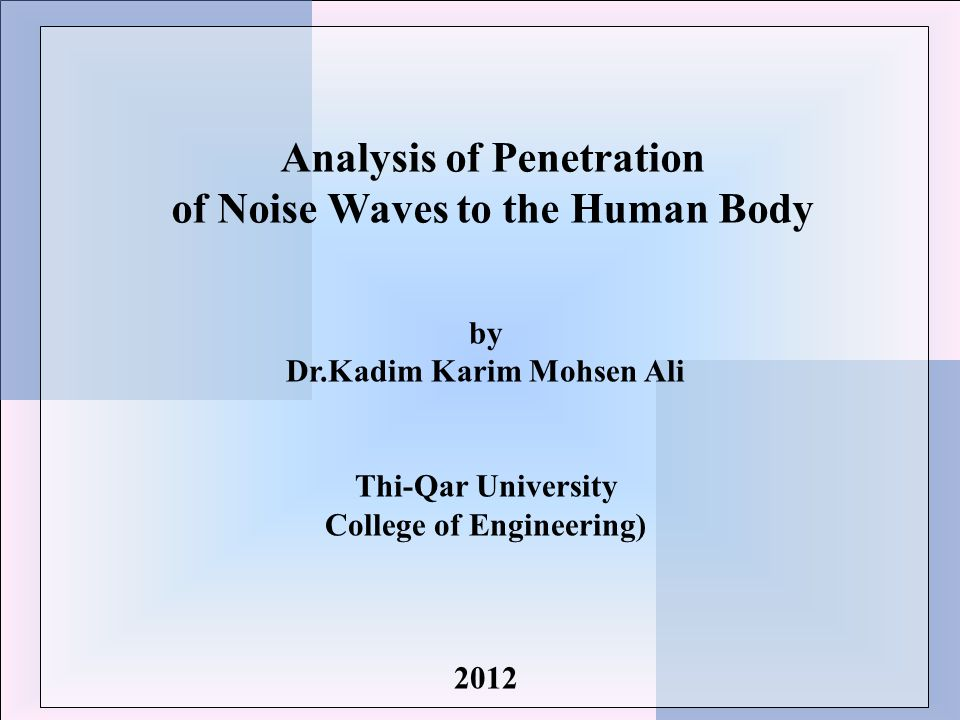 Classification of noise #according to frequency High frequency Saw sound Law frequency Grinders sound White noise Boiler sound #according to duration Continuous noise Spinning & weaving industry Interrupted noise Traffic noise Impulse & impact noise explosions