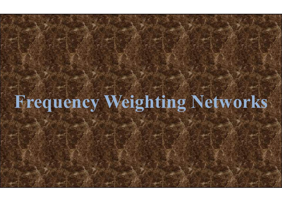Frequency Weighting Networks