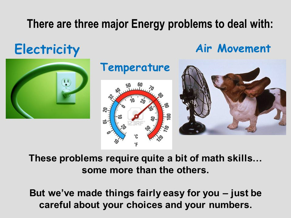 ELECTRICITY PROBLEM: RULE 1: You must have a SIMPLE, RENEWABLE and CLEAN source of your main electrical energy.