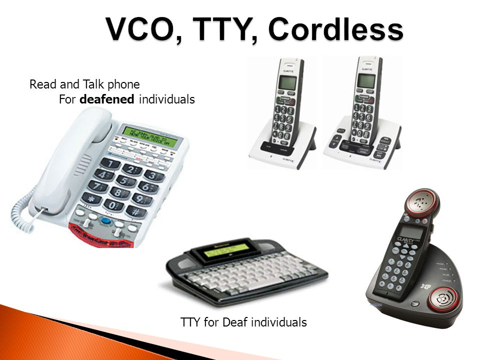 Read and Talk phone TTY for Deaf individuals For deafened individuals