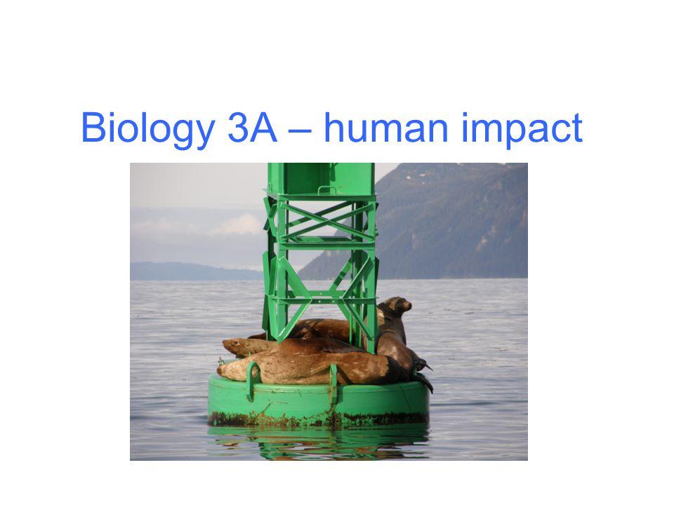 Biology 3A – human impact