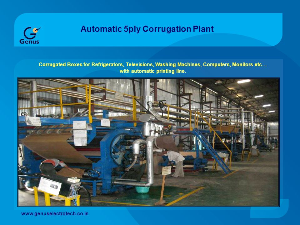 Automatic 5ply Corrugation Plant Corrugated Boxes for Refrigerators, Televisions, Washing Machines, Computers, Monitors etc… with automatic printing l