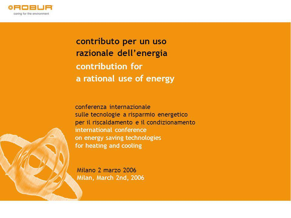 contributo per un uso razionale dellenergia contribution for a rational use of energy conferenza internazionale sulle tecnologie a risparmio energetic