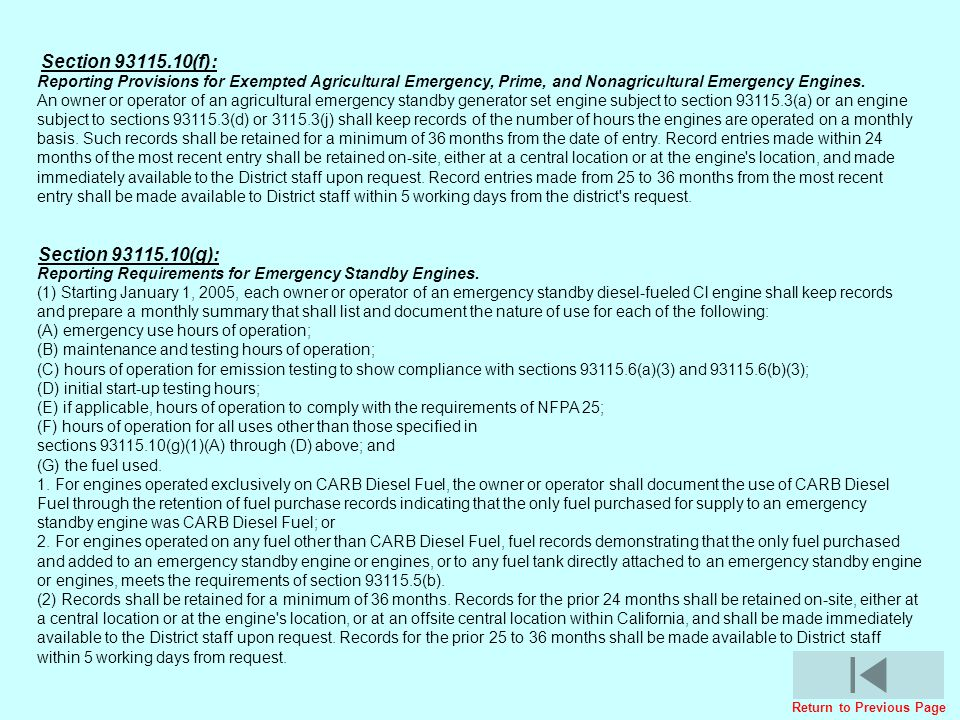 Reporting Provisions for Exempted Agricultural Emergency, Prime, and Nonagricultural Emergency Engines. An owner or operator of an agricultural emerge