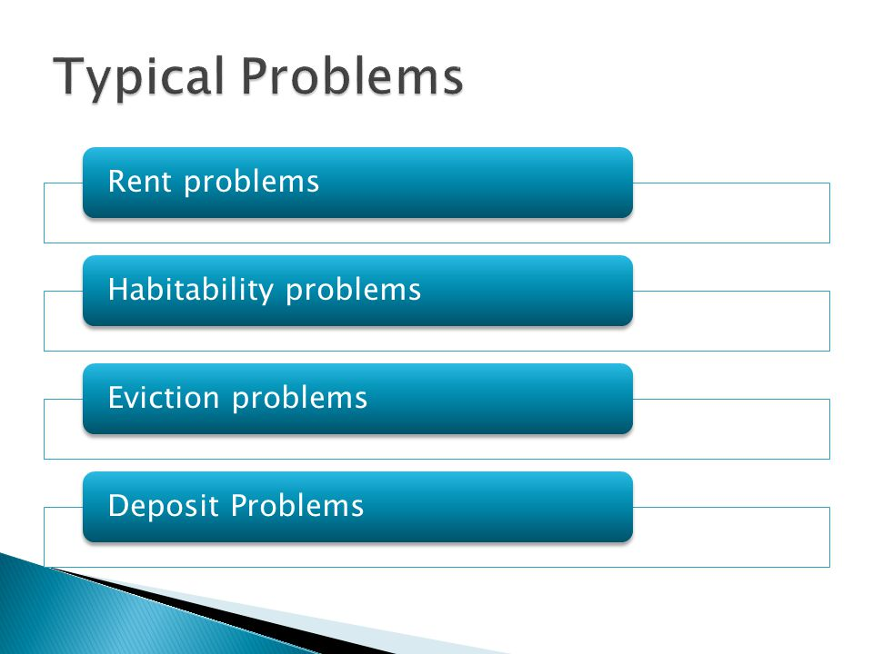 In Landlord Tenant Issues