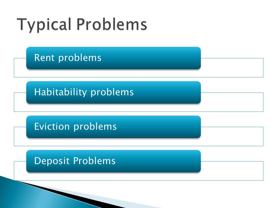 Landlord sees a problem client.