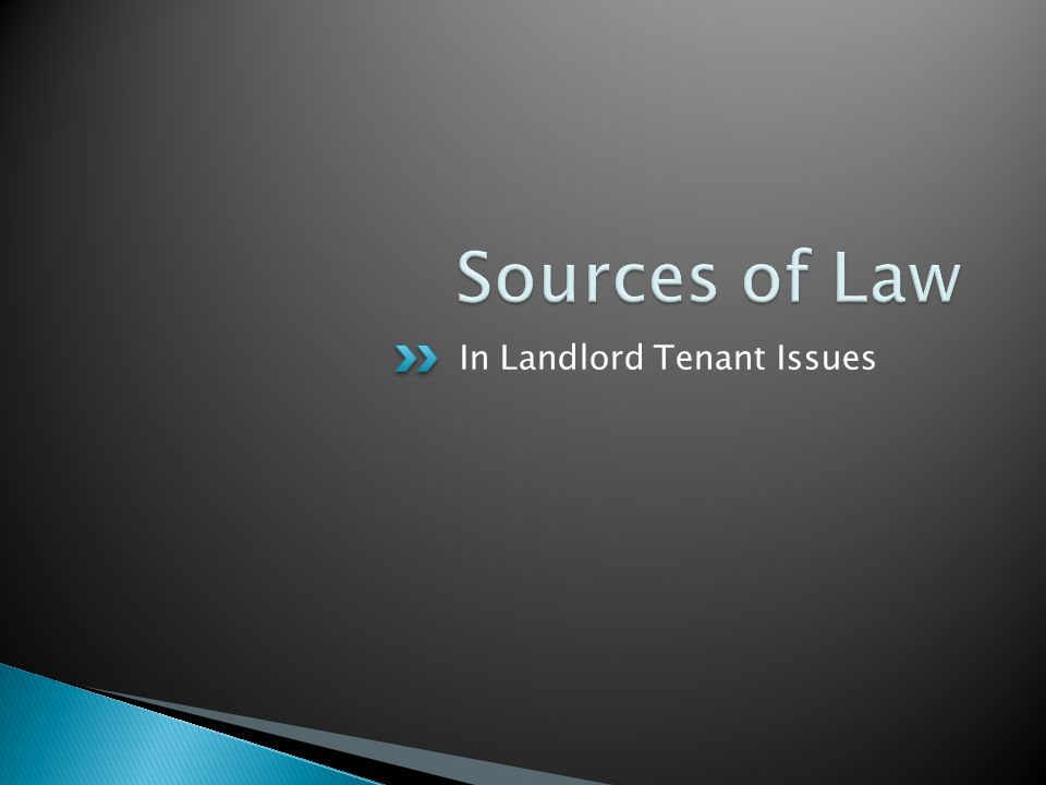 Not every rental has a lease.Some landlords still rent on handshakes.
