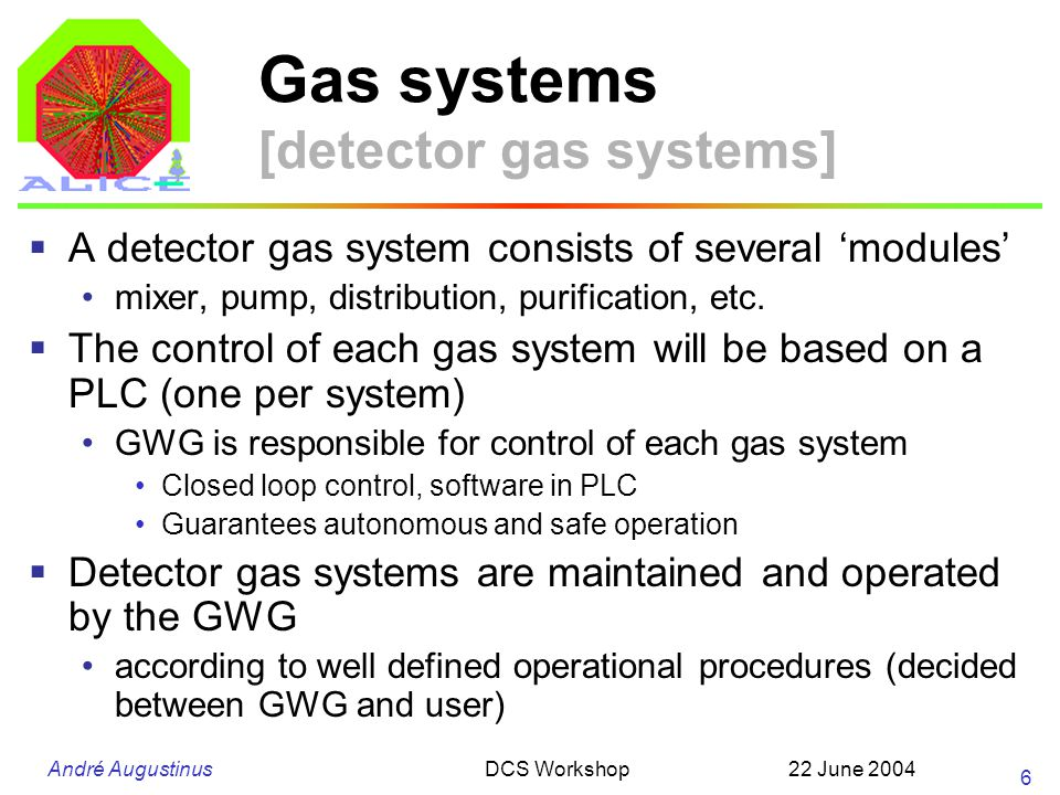 André Augustinus 22 June 2004DCS Workshop 27 Electricity [distribution inside the racks] TS/EL does not foresee any control inside the rack Lower granularity of power control on the equipment level Use facilities of the equipment (Wiener VME) Use special power outlets WG is looking at powering PC racks Make inventory of needs, monitor technology