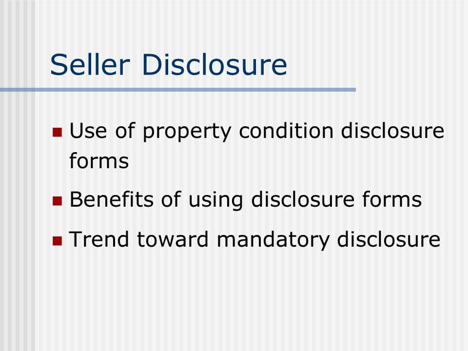 Duty to Disclose Analysis of who represents whom in a real estate transaction Parahoo v. Mancini