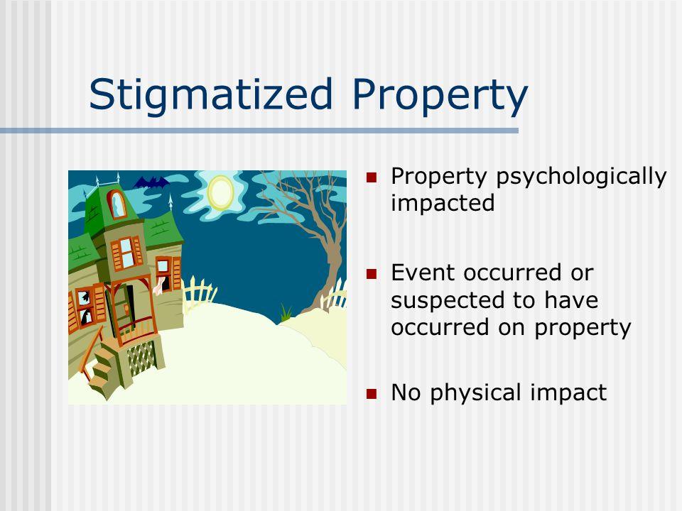 Stigmatized Property, Megans Law & Neighborhood Safety