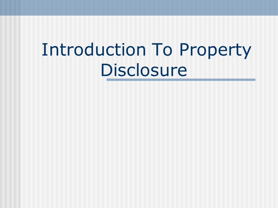 Property Disclosure: The Real Estate Professionals Guide To Reducing Risk Marcia L. Russell, DREI
