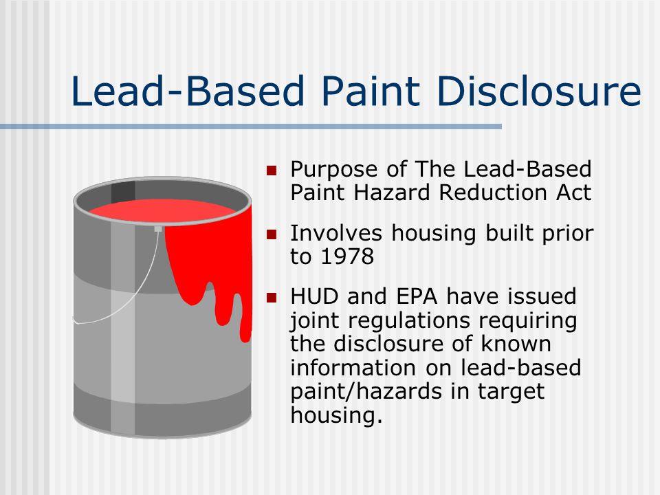 Lead-Based Paint Disclosure