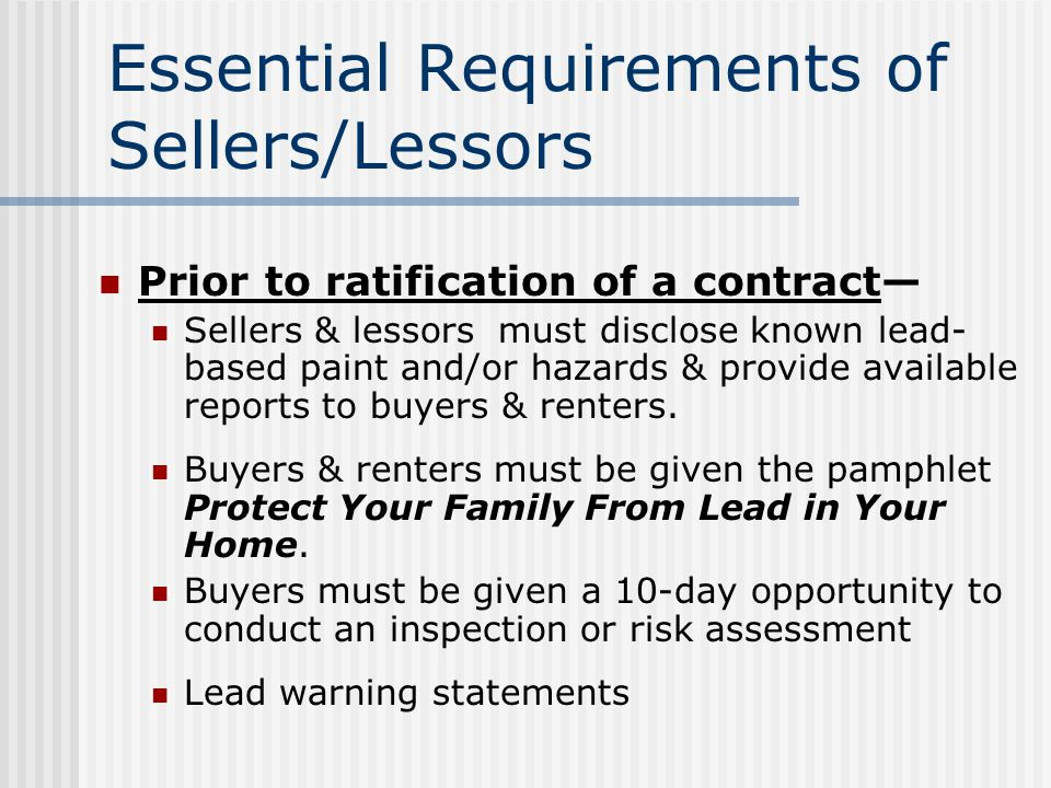 Definitions Agent Housing for the elderly Lead-based paint Lead-based paint hazard Risk assessment Target housing Zero bedroom units