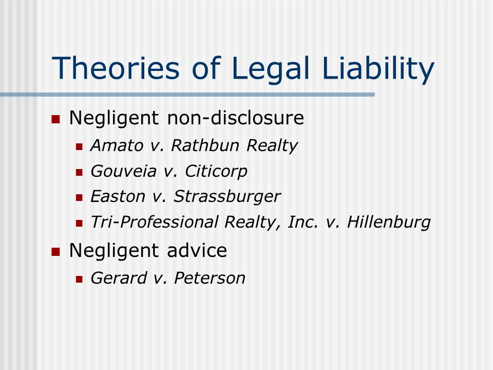 Theories of Legal Liability Active fraud Cooper & Co.