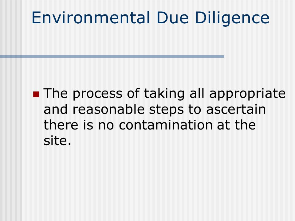 CERCLA and SARA Creates liability for cleanup Innocent landowners defense Potentially responsible parties Liability of the real estate agent