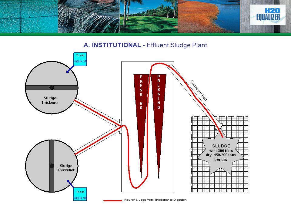 A. INSTITUTIONAL - Effluent Sludge Plant