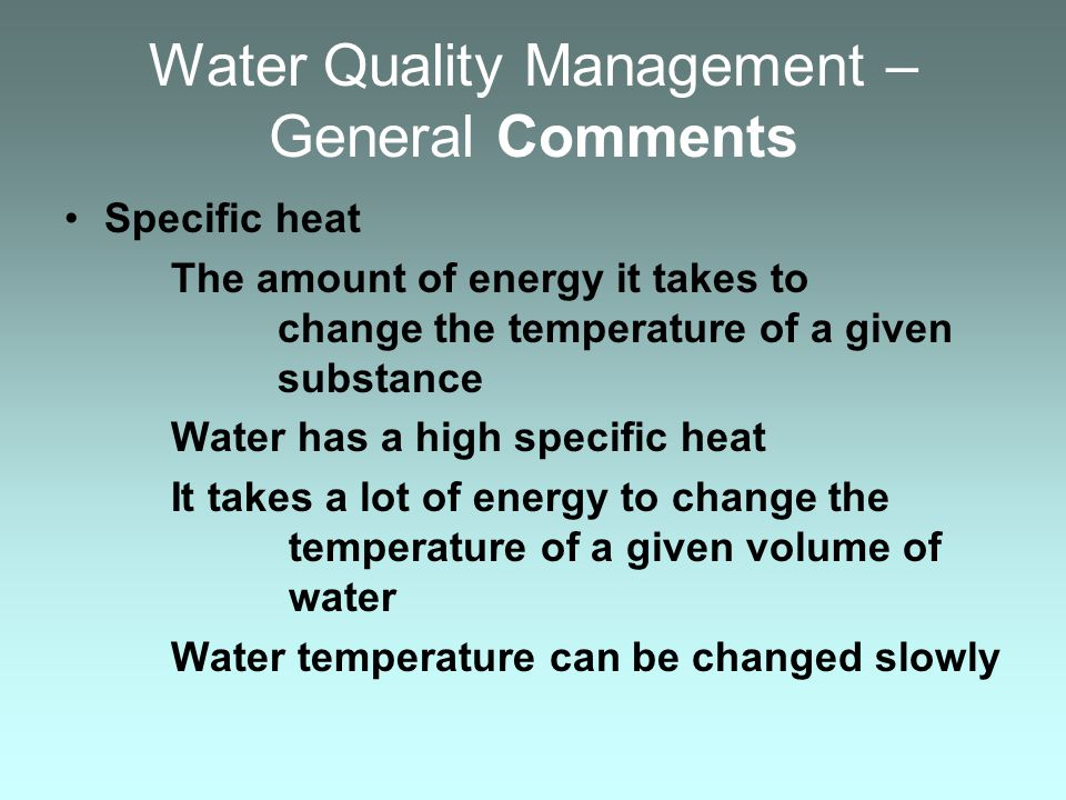 Important Water Quality Parameters THE WATER SOURCE IS OF PARAMOUNT IMPORTANCE Well water Spring water – devoid of living organisms, especially potential vectors of fish pathogens Surface water – wild fish are a source of pathogens filter UV treat Ozone treat