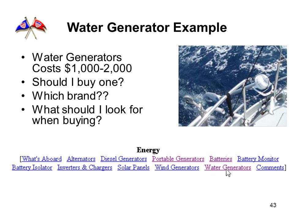 43 Water Generator Example Water Generators Costs $1,000-2,000 Should I buy one.