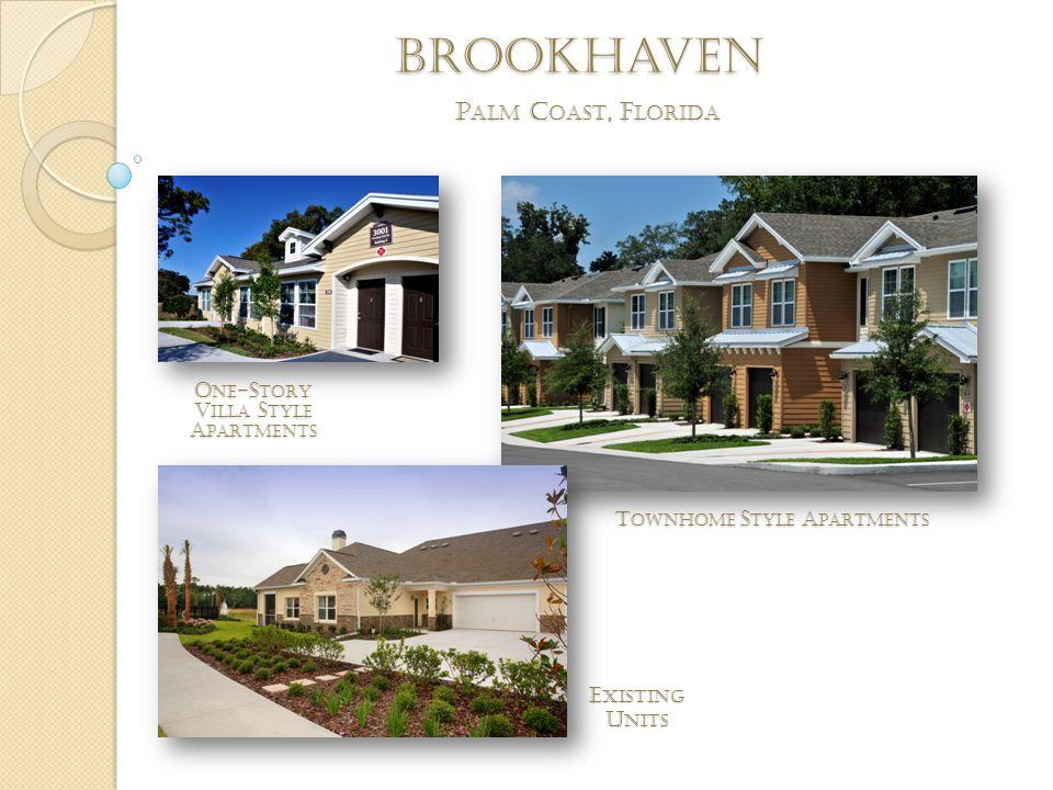brookhaven P ALM C OAST, F LORIDA T OWNHOME S TYLE A PARTMENTS O NE -S TORY V ILLA S TYLE A PARTMENTS E XISTING U NITS