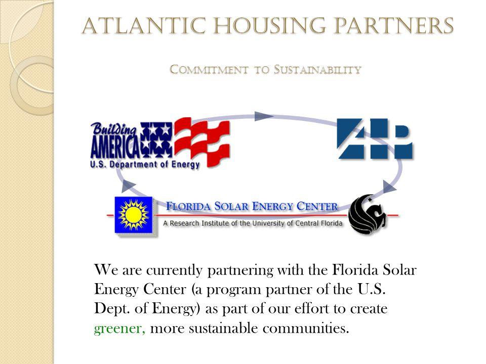 Atlantic housing partners R EPRESENTATIVE A TLANTIC H OUSING C OMMUNITIES